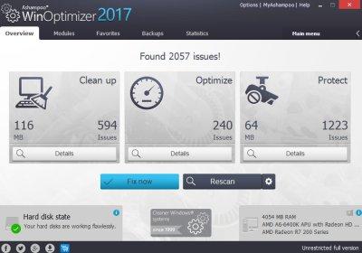 ashampoo winoptimizer 2017 searching